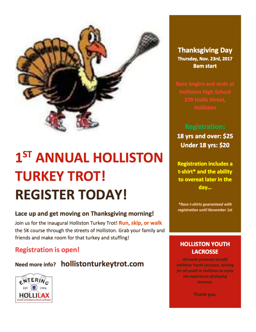 Holliston turkey trot flyer